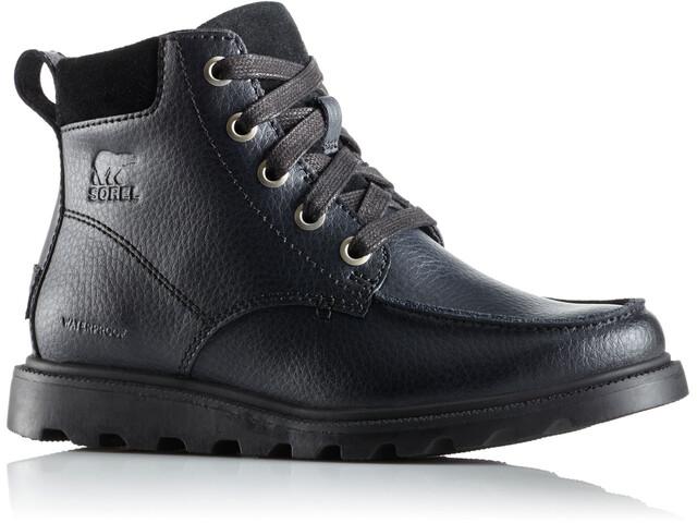 Sorel Madson Moc Toe Waterproof Shoes Youth Black/Black